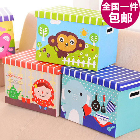 6840 IKEA wind lattice wave point paper box storage box, clothing toys covered storage box(China (Mainland))