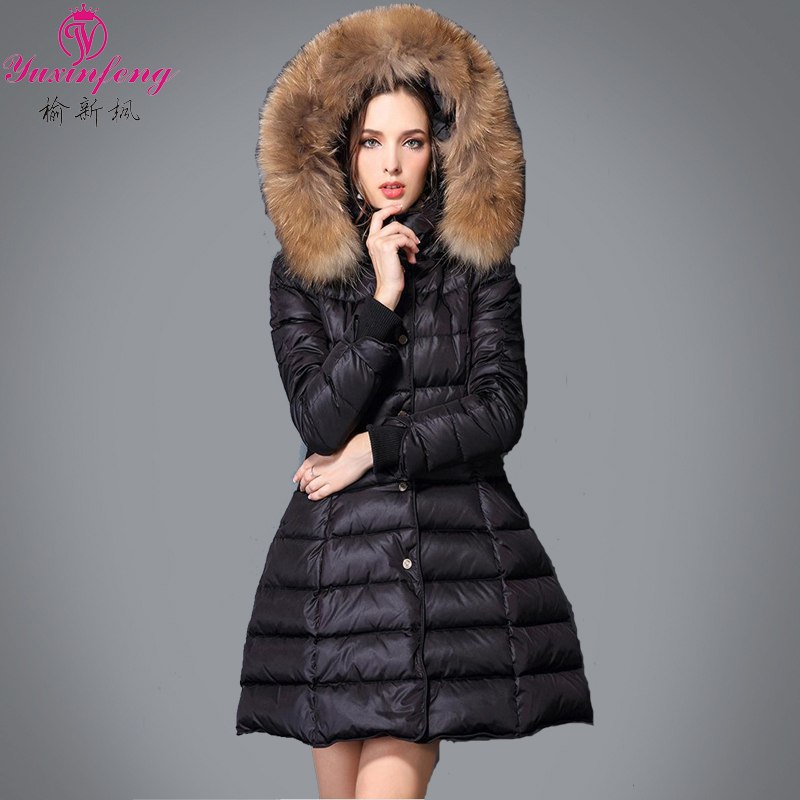 2015 new autumn and winter ladies ultra light down jacket authentic large loose thin in Europe and long warm coatОдежда и ак�е��уары<br><br><br>Aliexpress