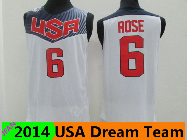 #6 Derrick Rose Jersey 2014 World Cup USA Dream Team Basketball Jerseys Dream Team Derrick Rose sports shirts Free shipping(China (Mainland))