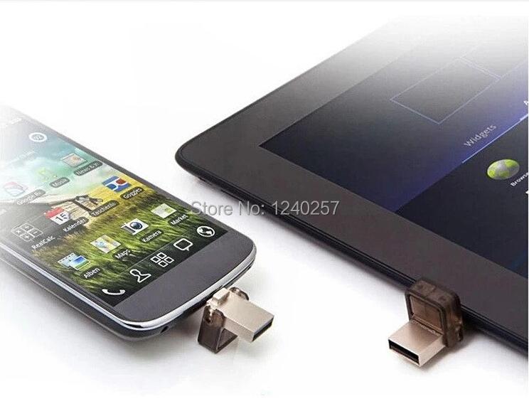 Real capacity mini Aluminum usb Flash drive OTG Smart phone pen drive computer 4GB  8GB 16GB   Micro USB 2.0 memory stick disk(China (Mainland))