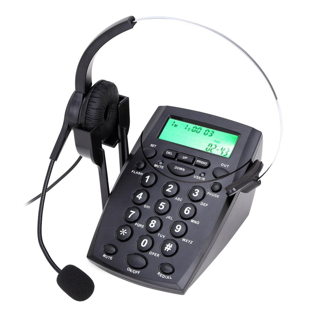 HT500 Headset Telephone Handsfree Call Headphones Desk Phone Noise Cancellation Power Saveing with Backlight Stand(China (Mainland))