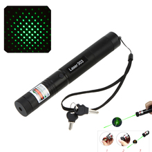 50MW Adjustable Focus + Burning Match Green Light Laser Pointer Star Sky Green Laser 303 Pen Flashlight with Safe Key Lock(China (Mainland))
