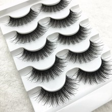 Buy False EyeLashes 1 Box 5 Pairs Thick Black False Eyelashes Makeup Tips Natural Smoky Makeup Long Fake Eye Lashes M716 for $1.44 in AliExpress store