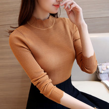 Buy 28 new winter Korean slim knitted lace elastic semi turtleneck sweater F1500 shirt for $16.11 in AliExpress store