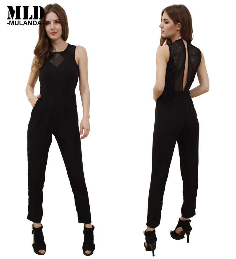 Awesome 2016 Rompers Womens Jumpsuit Plus Size Sexy V Neck Elegant Jumpsuit