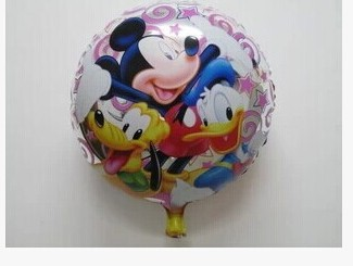 10pcs/lot outsourcing of sell like hot cakes! 18 inch aluminum film round Mickey Donald helium balloons birthday party layout(China (Mainland))