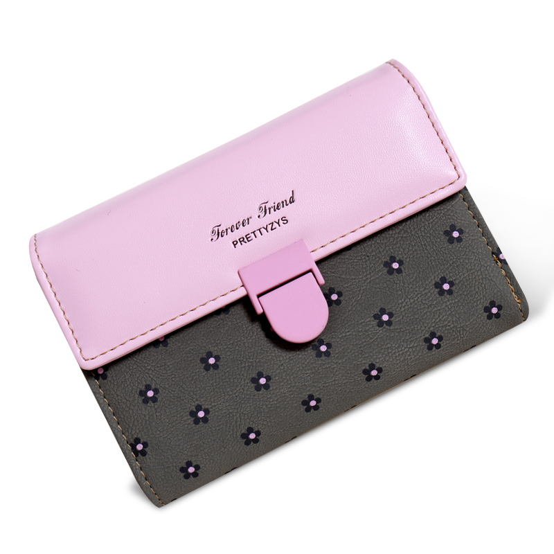 Top Selling Women Wallet High Quality PU Leather Hasp Lady Purse Fashion Style Short Desigh Female Clutch 5 Colors Girls Bags <br><br>Aliexpress