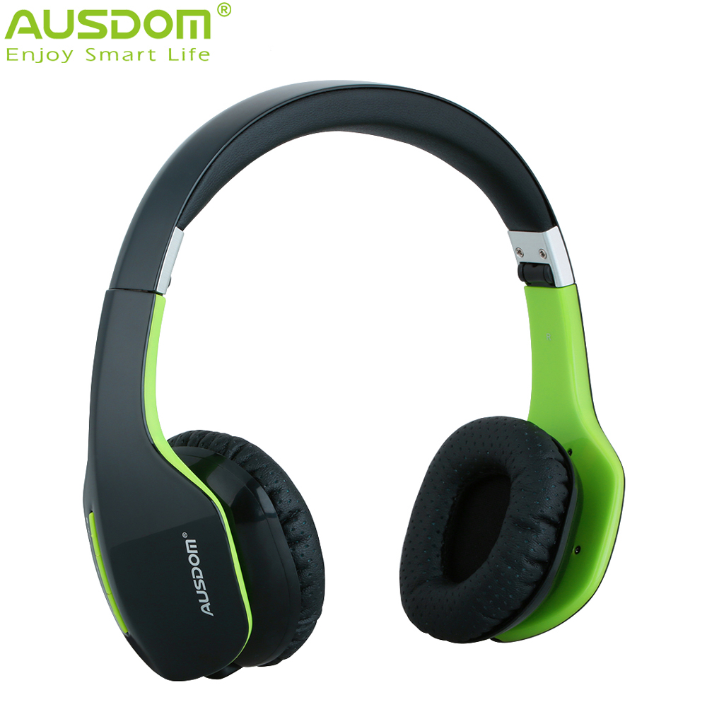 NEW ARRIVAL 2016 AUSDOM M07S Wireless Bluetooth Stereo Headphone Headset Earphone 10Hrs Talk Time for IOS Phone(China (Mainland))