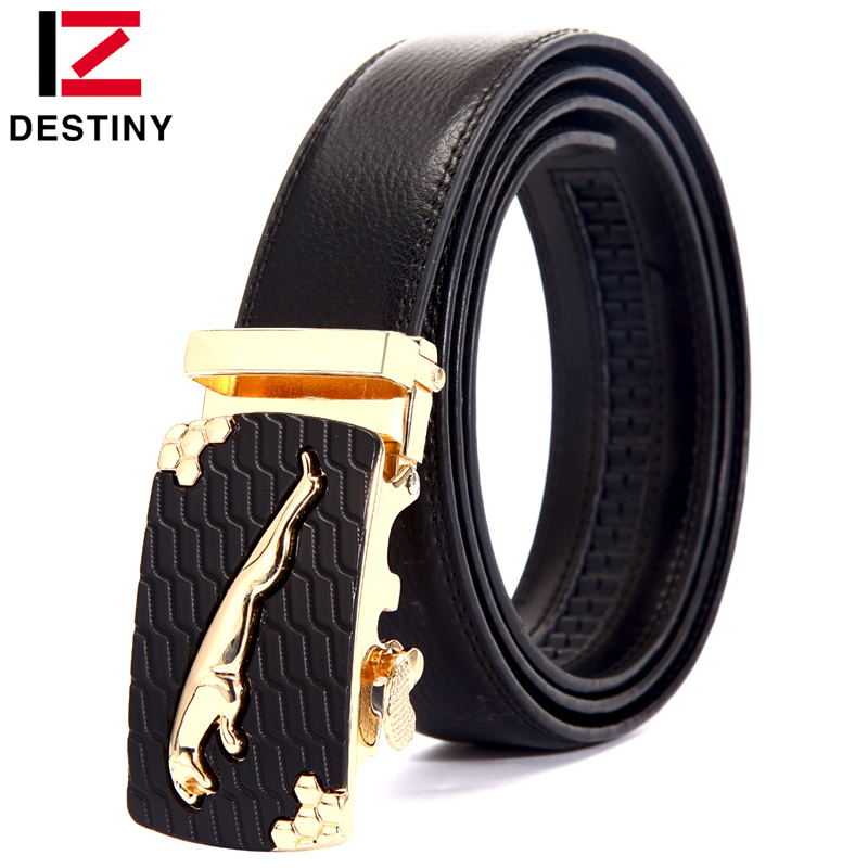 famous designer belts f407  DESTINY Gold Belts For Men Luxury Brand Famous Designer Male Genuine  Leather Strap High Quality Metal