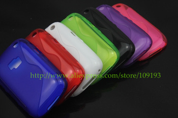 TPU For Blackberry Curve 9320 Gel Glossy Plain TPU Case ,1pc/lot by china post airmail