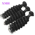 XMH Hair Products Brazilian Deep Wave 4pcs lot Soft Brazilian Human Hair Bundles 10 30inch Brazilian