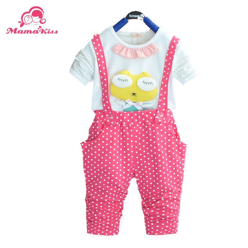 2016 New Autumn Fashion Baby girls Clothing Sets Frog Princess Overall Cotton Full Sleeve Suit A248 - Helen Children's clothing shop store