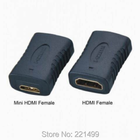 [FREE SHIPPING/EPACKET!] WHOLESALE 30pcs/lot Mini HDMI socket C type Female to HDMI 1.4 A type Female adapter convertor(China (Mainland))