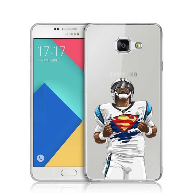 Carolina Panthers Cam Newton Superman Dab Dance Football Player Clear Plastic Cove Case For Samsung A3 A5 A7 2016 J1 J5 J7 2016(China (Mainland))