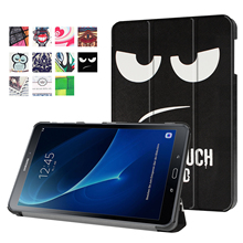 For Samsung Galaxy Tab A 10.1 2016 T585 T580 SM-T580 T580N Ultra Slim Magnetic Leather Smart Stand Case Cover For T580 (2016)(China (Mainland))