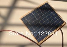 HOT SALE! 5Watt 5W Solar Panel Solar Cell - 5 Watt 12 Volt Garden Fountain Pond Battery Charger+Diode Free Shipping(China (Mainland))