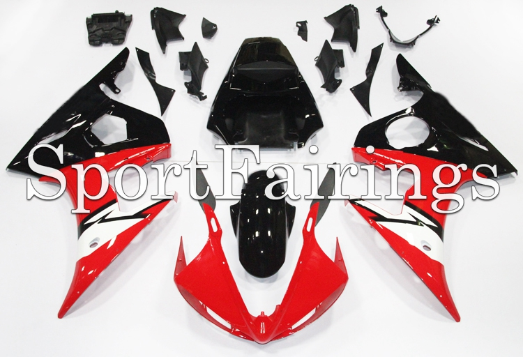 Full Fairings For Yamaha YZF600 R6 03 04 05 2003 - 2005 Injection ABS Plastic Motorcycle Fairing Kit Body Frames Red Black Hulls(China (Mainland))