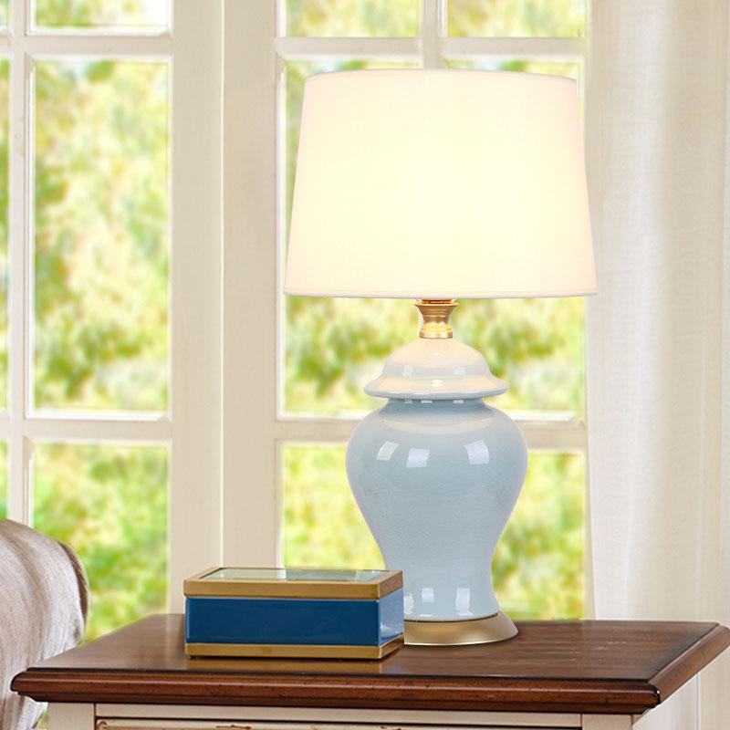 Modern Ceramic Table Lamp Bedside Porcelain Lamp Living Room Bedroom Home Lighting BLT007(China (Mainland))