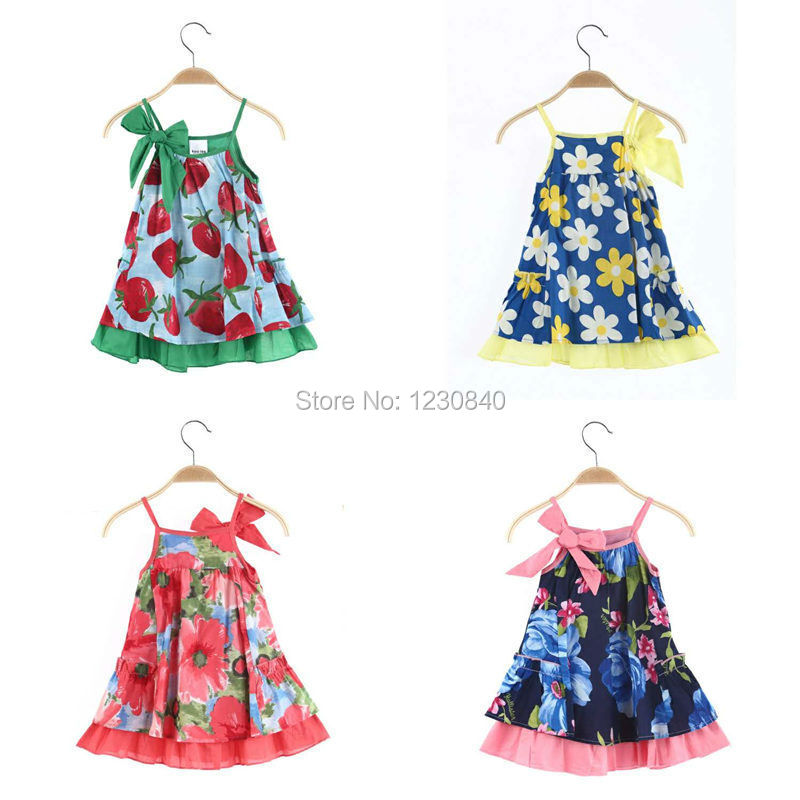 Stock 2015 summer kids fashion design 1-5 year baby girls sweet dresses,kids causal Strawberry dresses children roupas - Fashion brands Pavilion store