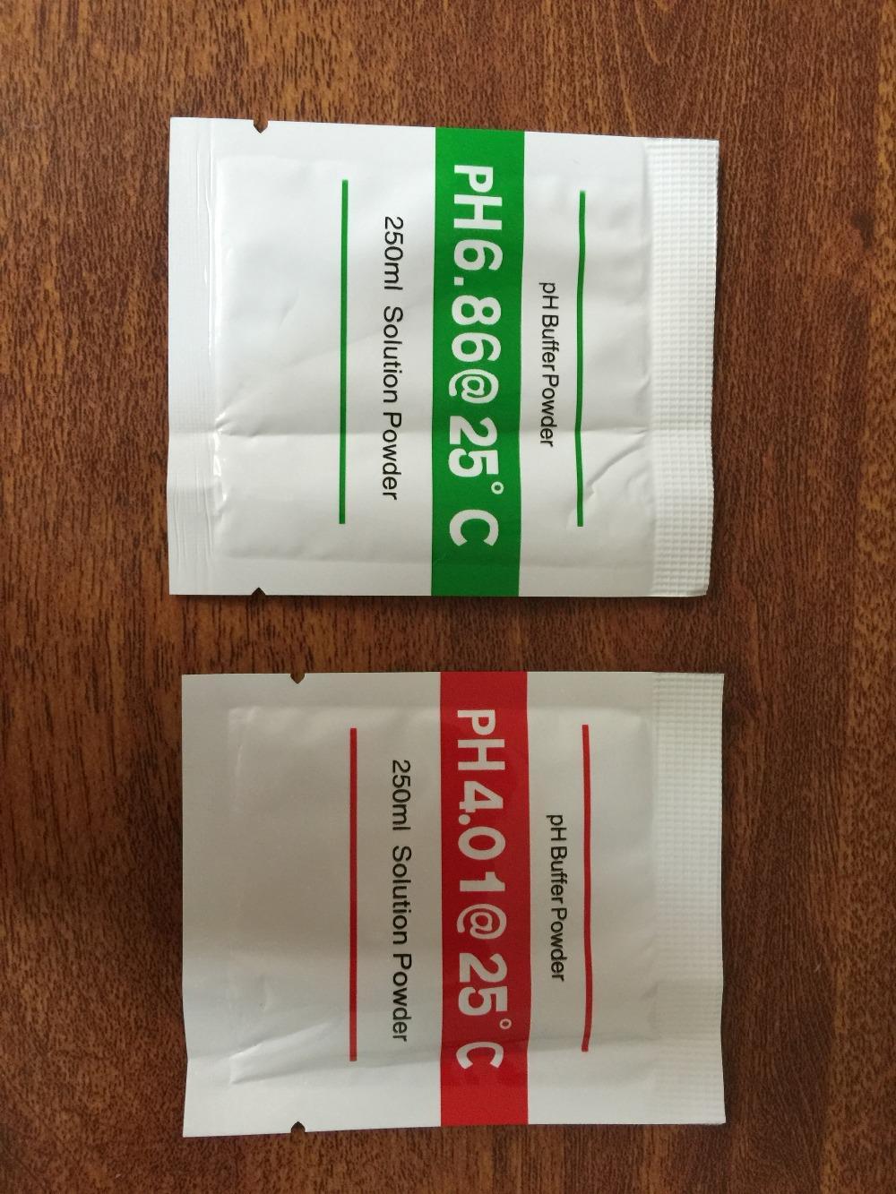 200Pcs PH Buffer Powder for aquarium PH meter PH Test Meter Measure Calibration Solution 4.01/6.86