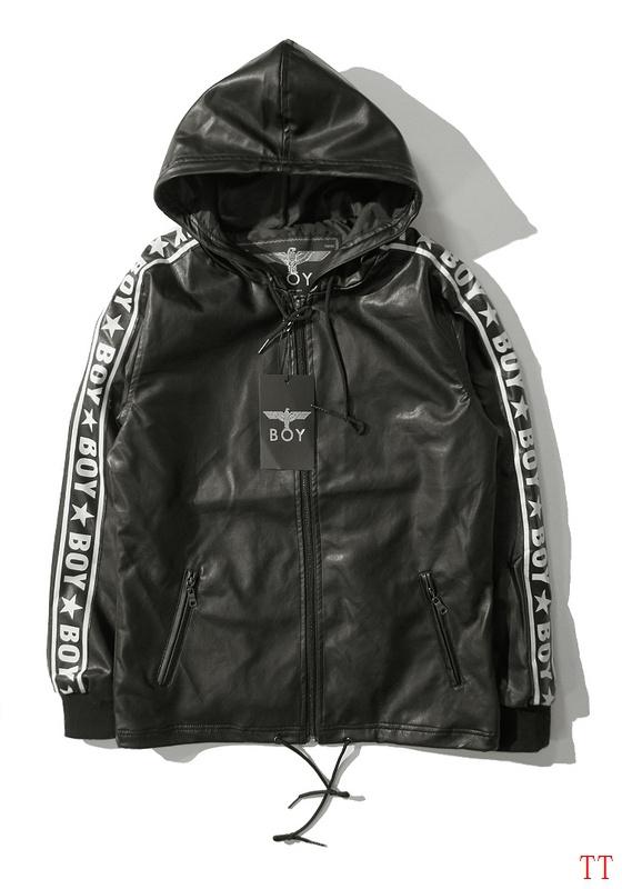 2015 Fall Winter street Tide brand boy's girl's boy london leisure leather jacket new york classic coats s m l xl - Vivian Apparel Co,Ltd store