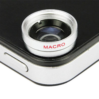 4in1 Fish Eye + Wide Angle Macro + Telephoto Lens Camera for iPhone 5G 4S 4G(China (Mainland))