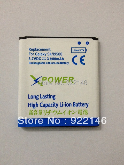 High Capacity Battery 3000 mAh Free Shipping for Samsung Galaxy S4 Sivs I9500