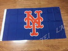 MLB New York Mets 3ftx5ft Banner 100D Polyester Flag metal Grommets two sizes can Choose(China (Mainland))