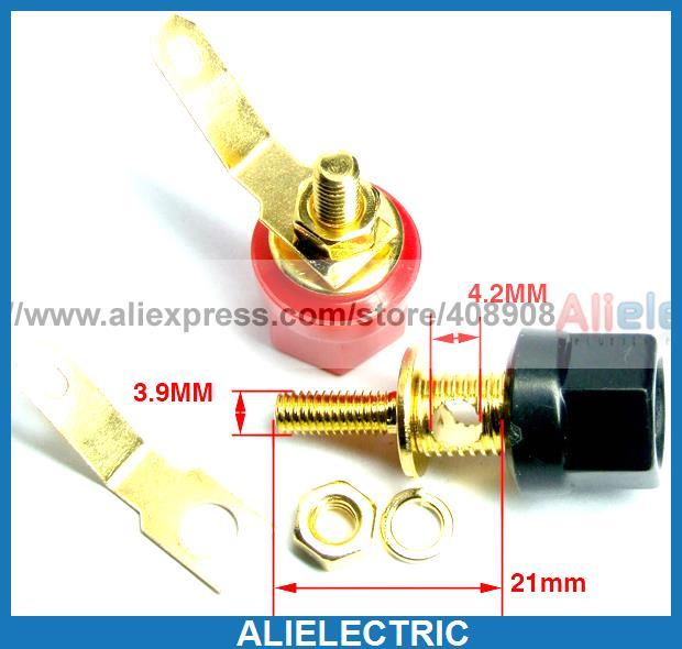 Фотография 100pcs x  Gilt Binding Post to Banana Plug Speaker Cable Test