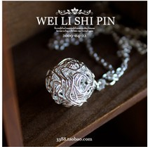 Free Shipping 10 mix order 2014 Fashion Accessories Sphere Necklace Fashion Necklace Knitted Sepak Takraw Jewelry