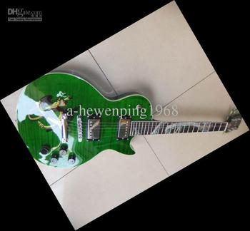 New Arrival SLASH model electric guitar Snake Inlay Green Burst VOS 101112-19