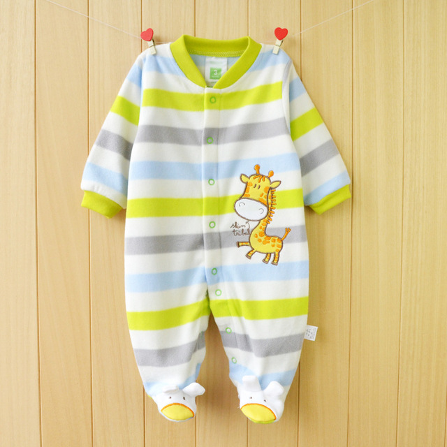 Новый 2015 Осень/Зима Ребенка Комбинезон одежда с длинными рукавами комбинезоны для новорожденных Мальчик Девочка Флис детская Одежда