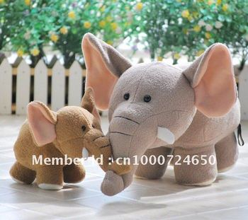 Free Shipping 19cm tall RUSS Plush Toy Elephent cute doll best gift to your girlfriend or kids elephant toy anime plush kids toy