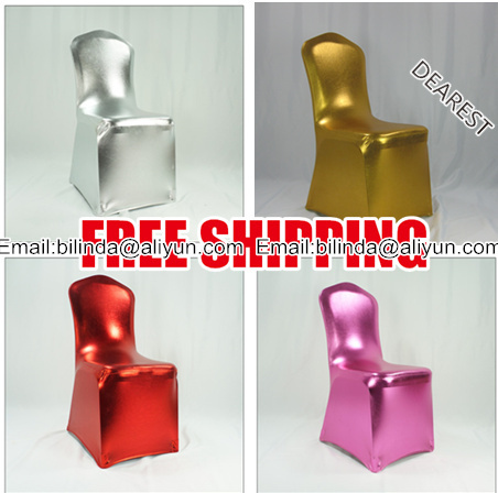 FREE SHIPPING coating wedding chair cover coating spandex chair cover(China (Mainland))
