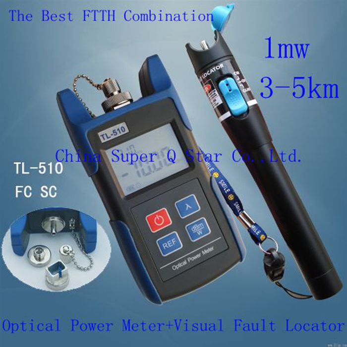FTTH Kit TL510C -50~+26 Optical Power Meter with FC SC ST Connector +TL532 Red Laser Fiber Optic Cable Tester (Range: 3-5km)<br><br>Aliexpress
