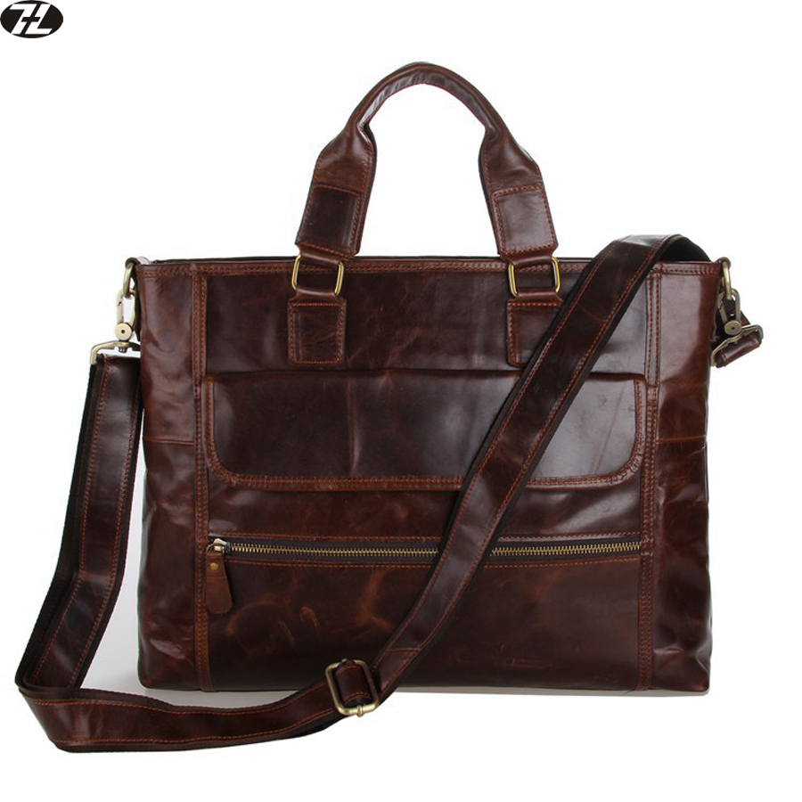 men genuine leather briefcase brand men handbag business tote men crossbody messenger bags vintage men shoulder Laptop bag