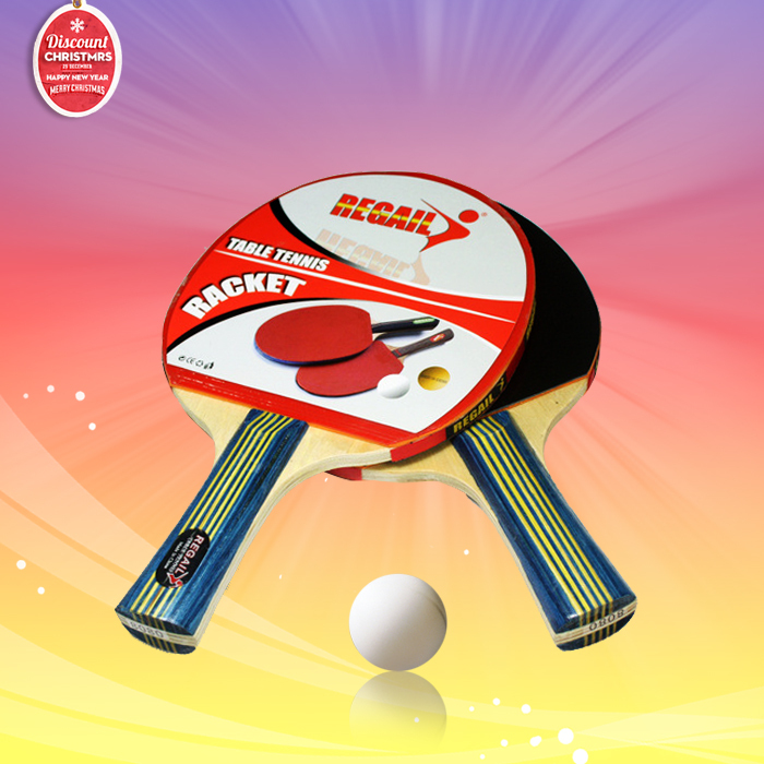 Low price cheap Table tennis rackets Durable quality double face Pimples-in rubber bat for primary tenis learner easy to control(China (Mainland))