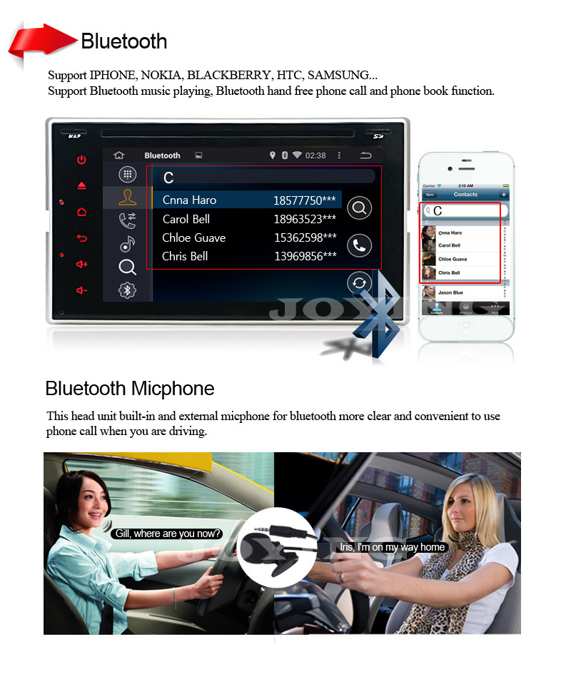 Quad Core Joying Universal Android 4 4 Double 2Din Car Dvd Player Radio GPS Navi AutoRadio