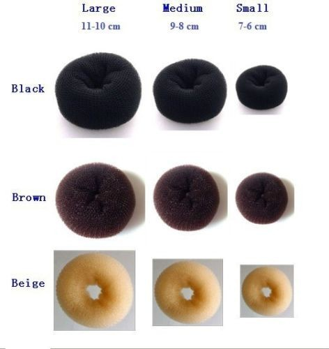 Free Shipping New Arrival 3 sizes Hair Styling Donut Magic Sponge Bun Ring Maker Former Twist Tool Hair Disk(China (Mainland))