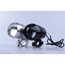 1 PC 125W 2 Color Motorcycle Motorbike led Headlight 3000LMW Upper Low Beam & Flash CREE U5 LED Driving Fog Spot Head Light Lamp