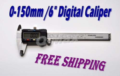 0-150mm /6 inch stainless hardened digital Vernier Caliper Gauge Micrometer Measurement Tool - Q-Max Digital World store