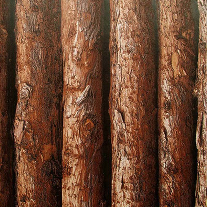Wood Texture Vinyl 3D Waterproof Wallpaper Thick Embossed