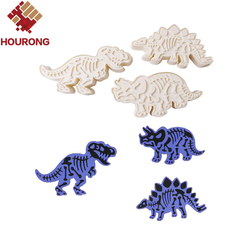 3Pcs/Set Dinosaur Cookies Cutter Biscuit Mould Set Baking Tools Cutter Tools Cake Decoration Bakeware Mold(China (Mainland))