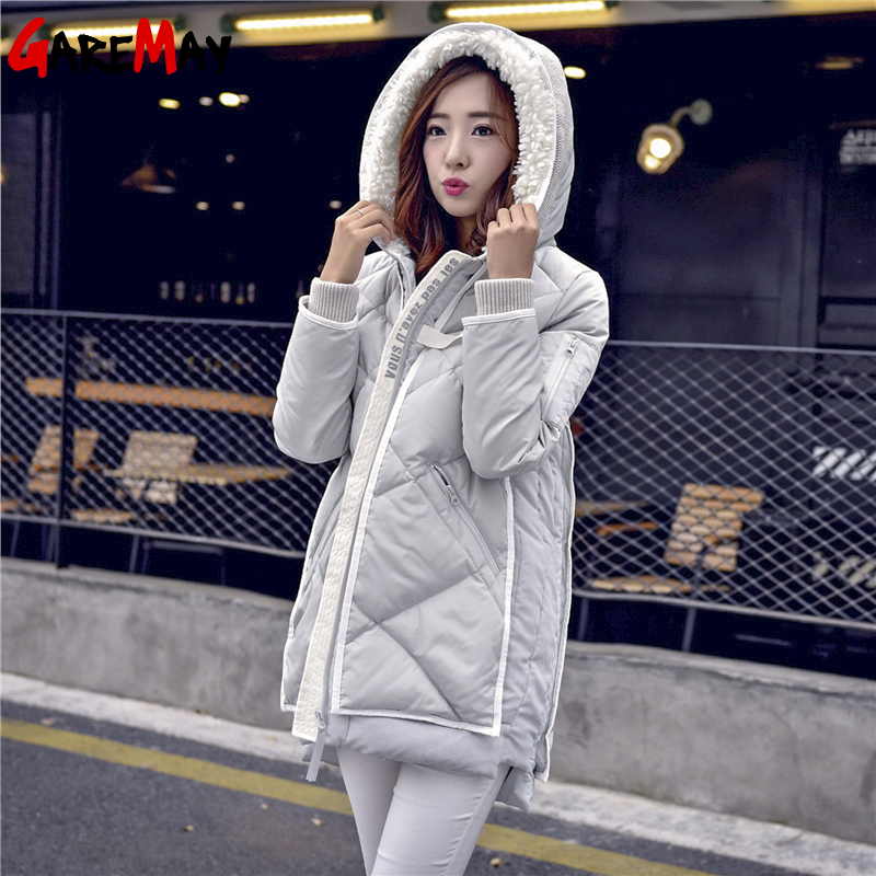 Womens Winter Down Coats &amp; Parkas 2015 Korean Hooded Thickening Ladies PU Stitching Long Down Parka Jacket For Women YH355Одежда и ак�е��уары<br><br><br>Aliexpress