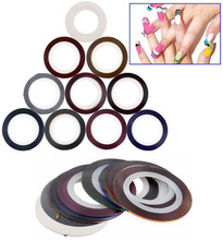 UC-108 New Arrival! Profession 34 Pcs different Colors Rolls Striping Tape Line DIY Nail Art Tips Decoration Sticker Nail Care(China (Mainland))