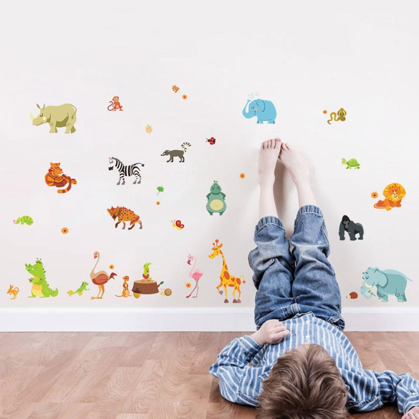 wall sticker for kids rooms home decor decoration wall stickers art animal children living room decoration accessories #2012(China (Mainland))