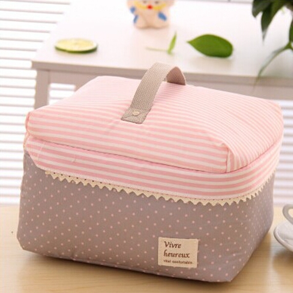 Free Shipping Portable Cosmetic Bag Lingerie Bra Underwear Dot Bags Makeup Organizer Storage Case Travel Toiletry Bag(China (Mainland))