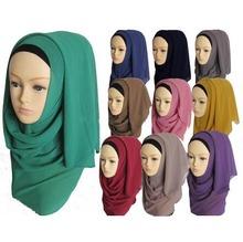 Muslim hijab islamic women hijab Muslim hijab jersey scarf hijabs chiffon shawls plain scarves WL2461(China (Mainland))
