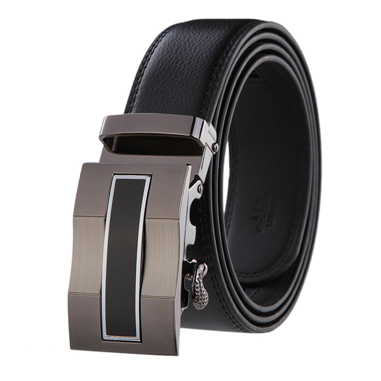 2015 Men's leather belt Mens Automatic two-sided leather belt buckle Cintos cinturon belts men's belts ceinture,cinto masculino(China (Mainland))