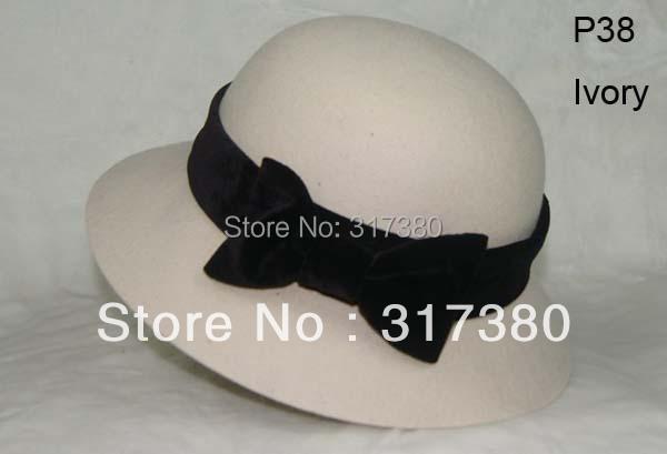 Wholesale NEW Designer Women Winter Wool Cloche Hats Fedora Hat Ladies Fall Wool Bowler Caps Womens Spring Felt Dome Cap Derby